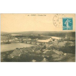 carte postale ancienne 08 GIVET. Ancien Pont 1924