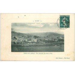 carte postale ancienne 08 GIVET. Les Deux Villes Vallée de la Meuse