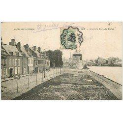 carte postale ancienne 08 GIVET. Quai du Fort de Rome 1906. Imprimerie