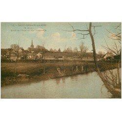 carte postale ancienne 28 SAINT-GERMAIN-SUR-AVRE. L'Avre et Village