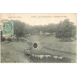 carte postale ancienne 08 GIVET. Trois Fontaines souterrain du Canal 1907