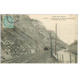 carte postale ancienne 08 GIVET. Tunnel à l'Entrée de la Gare 1907