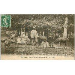 carte postale ancienne 27 SOUVILLY. Le Parc aux Cerfs 1913
