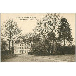 carte postale ancienne 27 VERNEUIL-SUR-AVRE. Château de la Puisaye 1924