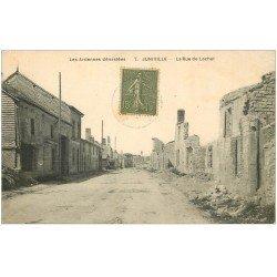carte postale ancienne 08 JUNIVILLE. La Rue de Lachut 1921