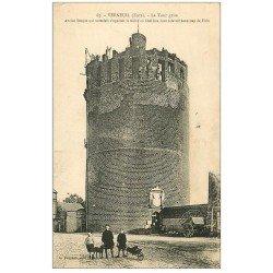 carte postale ancienne 27 VERNEUIL-SUR-AVRE. La Tour Grise animation