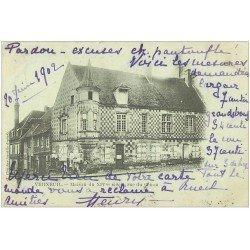 carte postale ancienne 27 VERNEUIL-SUR-AVRE. Rue du Canon 1902