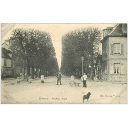carte postale ancienne 27 VERNON. Avenue Thiers