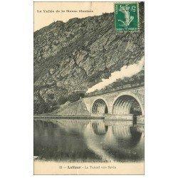 carte postale ancienne 08 LAIFOUR. Traion entrant dans Tunnel de Revin 1912