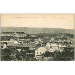 carte postale ancienne 27 VERNON. Casernes et Champ de Manoeuvres
