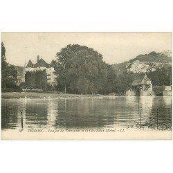 carte postale ancienne 27 VERNON. Donjon Vernonnet Côte Saint-Michel