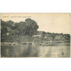 carte postale ancienne 27 VERNON. Garage Sencier Bords de Seine 1916