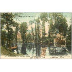carte postale ancienne 08 LAVAL-DIEU. Eglise et la Semois 1903