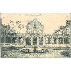 carte postale ancienne 27 VERNON. Hôpital doté par Saint-Louis 1906