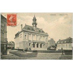 carte postale ancienne 27 VERNON. Hôtel de Ville 1907