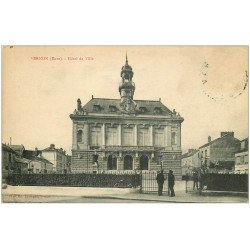 carte postale ancienne 27 VERNON. Hôtel de Ville. Timbre absent
