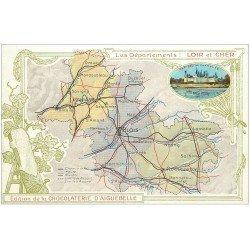 carte postale ancienne 41 AIGUEBELLE. La Chocolaterie et Plan