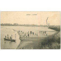 carte postale ancienne 41 AVARAY. La Plage 1907