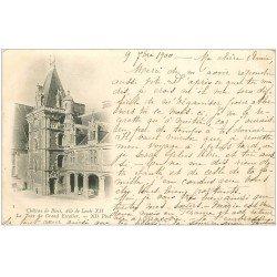 carte postale ancienne 41 BLOIS. 1900 Tour du Grand Escalier 1900