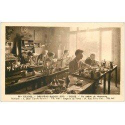 carte postale ancienne 41 BLOIS. Atelier de décoration. Fabrique Quai Ulysse-Besnard
