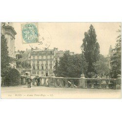 carte postale ancienne 41 BLOIS. Avenue Victor-Hugo 1905