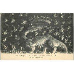 carte postale ancienne 41 BLOIS. Château. Emblême François I°