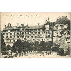 carte postale ancienne 41 BLOIS. Château. Façade et Tramway 1932