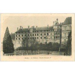 carte postale ancienne 41 BLOIS. Château. Façade François I° vers 1900. Vierge