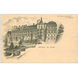carte postale ancienne 41 BLOIS. Château. Rare carte timbrée mais vierge