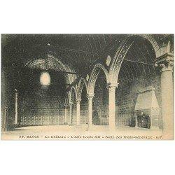 carte postale ancienne 41 BLOIS. Château. Salle Etats Généraux