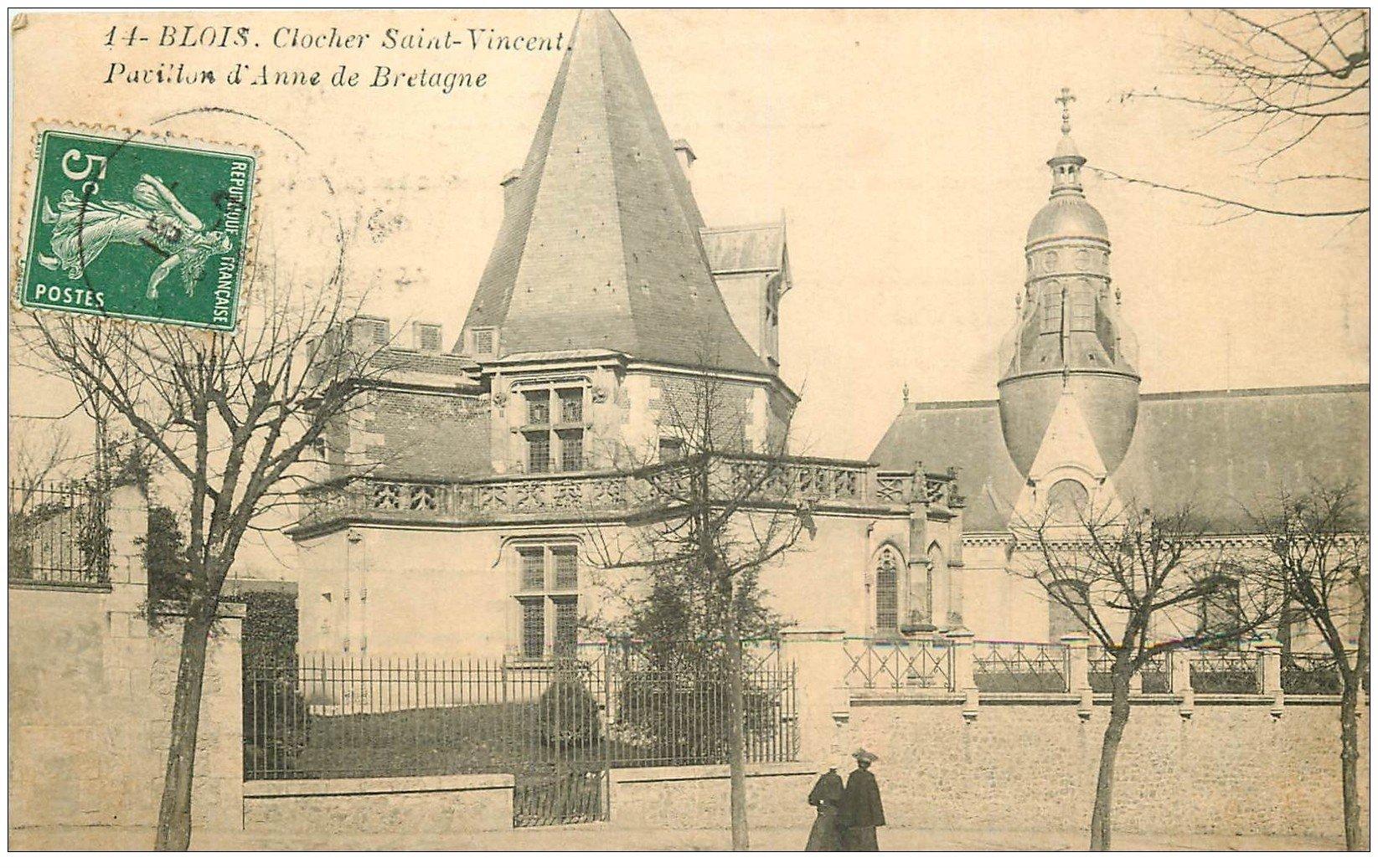 carte postale ancienne 41 BLOIS. Clocher Saint-Vincent Pavillon