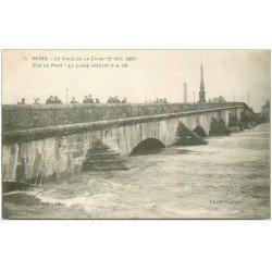 carte postale ancienne 41 BLOIS. Crue de la Loire en 1907 le Pont