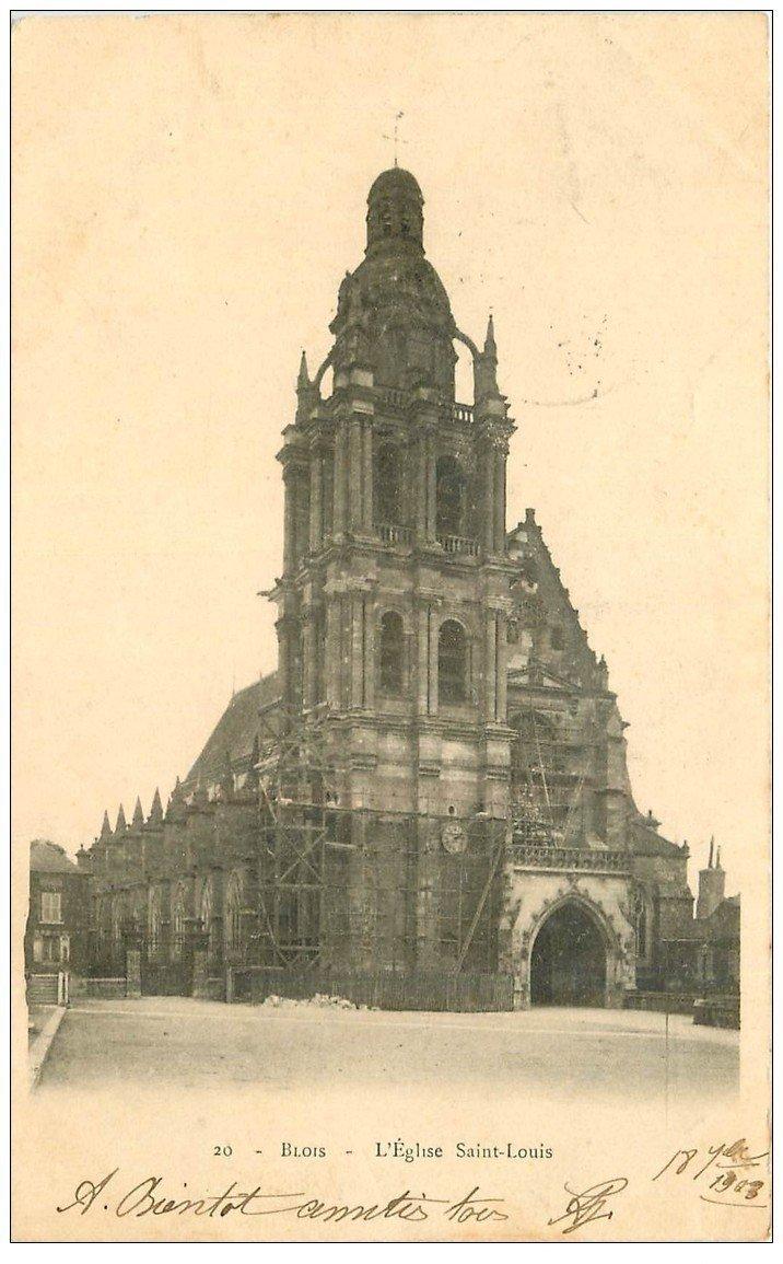 carte postale ancienne 41 BLOIS. Eglise Saint-Louis 1903