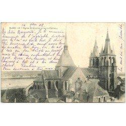 carte postale ancienne 41 BLOIS. Eglise Saint-Nicolas 1902