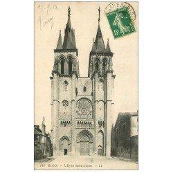 carte postale ancienne 41 BLOIS. Eglise Saint-Nicolas n°148 1912