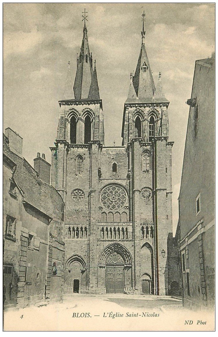 carte postale ancienne 41 BLOIS. Eglise Saint-Nicolas n°4