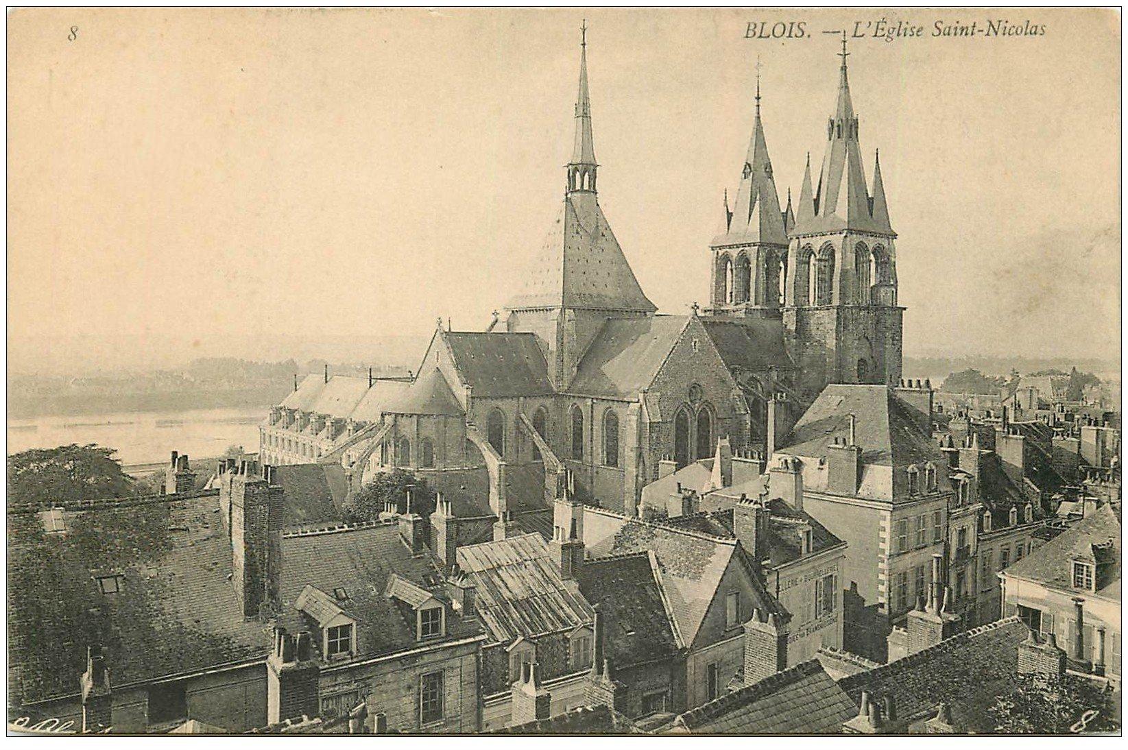 carte postale ancienne 41 BLOIS. Eglise Saint-Nicolas n°8