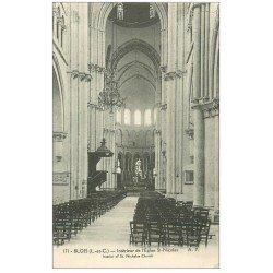 carte postale ancienne 41 BLOIS. Eglise Saint-Nicolas. Intérieur
