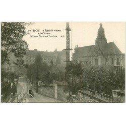 carte postale ancienne 41 BLOIS. Eglise Saint-Vincent et Château 190