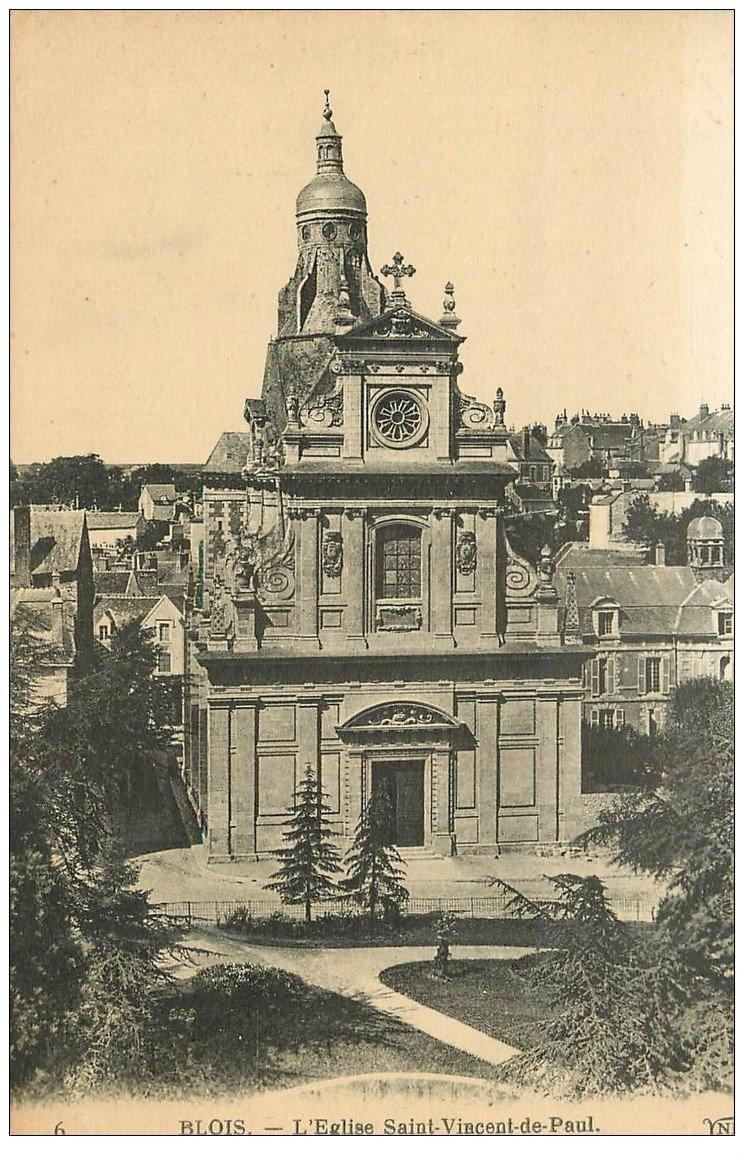 carte postale ancienne 41 BLOIS. Eglise Saint-Vincent-de-Paul n°6