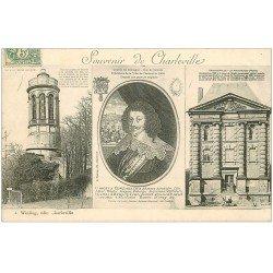 carte postale ancienne 08 MEZIERES. Charles de Gonzague et Vieux Moulin 1906