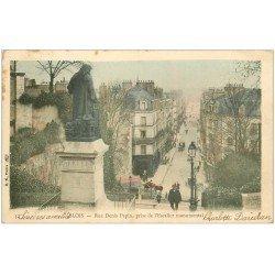 carte postale ancienne 41 BLOIS. Escalier Rue Denis-Papin 1903 en couleur