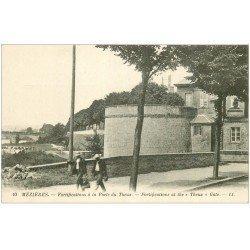 carte postale ancienne 08 MEZIERES. Fortifications Porte du Theux