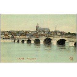carte postale ancienne 41 BLOIS. Vue générale Pont 24