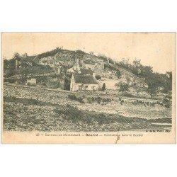 carte postale ancienne 41 BOURRE. Habitations dans le Rocher 1905