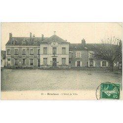 carte postale ancienne 41 BRACIEUX. 1914 Hôtel de Ville