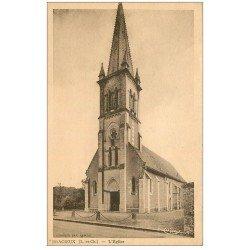 carte postale ancienne 41 BRACIEUX. L'Eglise et Porte