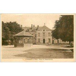 carte postale ancienne 41 BRACIEUX. Place Hôtel de Ville