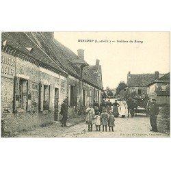 carte postale ancienne 41 BUSLOUP. Le Bourg Attelage du Boucher