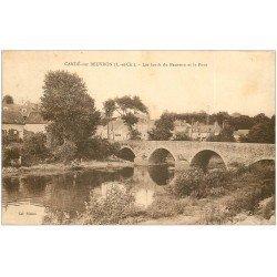 carte postale ancienne 41 CANDE-SUR-BEUVRON. Le Pont 1937